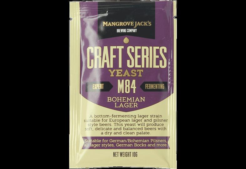Levures pour fermentation - Levure Mangrove Jack's Bohemian Lager M84 10g