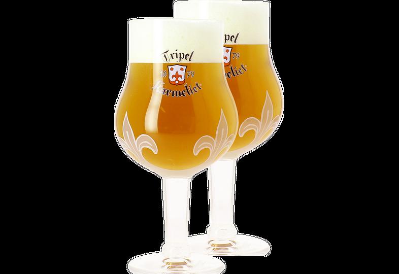 Verres à bière - Pack 2 Verres Tripel Karmeliet - 30 cl