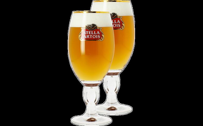 Biergläser - Pack 2x 25cl Stella Artois Gläser
