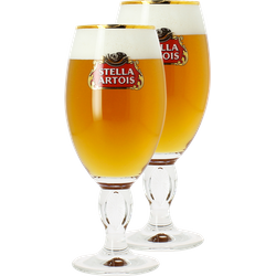Beer glasses - Stella Artois 25cl stem glass x2