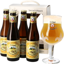 Confezione regalo con birra e bicchieri - Tripel Karmeliet Confezione Regalo