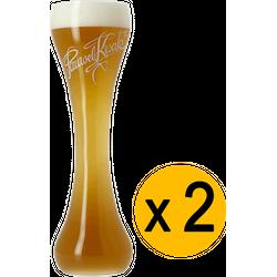 Verres à bière - Pack 2 Verre Kwak à pied plat