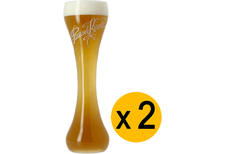 Beer glasses - 2 Kwak flat-bottom glasses
