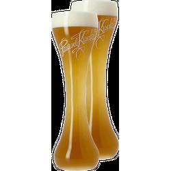 Beer glasses - 2 Kwak flat-bottom glasses