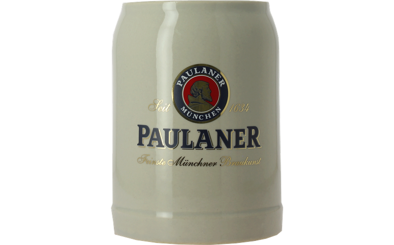 Beer glasses - Paulaner 50cl earthenware stein glass