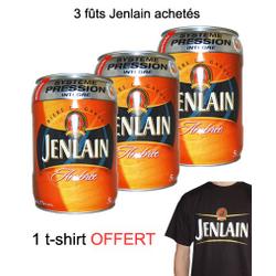 Brasserie Jenlain - 3 Fûts 5L Jenlain Ambrée + 1 T-Shirt