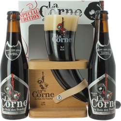 Gift box with beer and glass - Gift Pack La Corne du Bois des Pendus Black