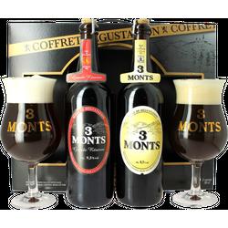 Biergeschenk mit Glas - Coffret 3 Monts dégustation