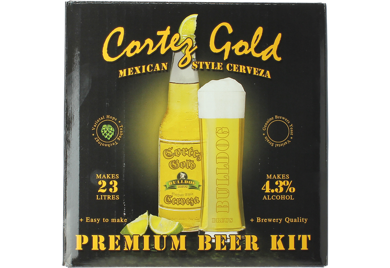 Kit da birra - Kit per birra Bulldog Cortez Gold Mexican Cerveza