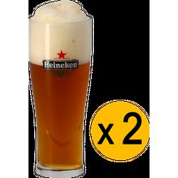 Beer glasses - 2 glasses Heineken Ellipse - 33 cl