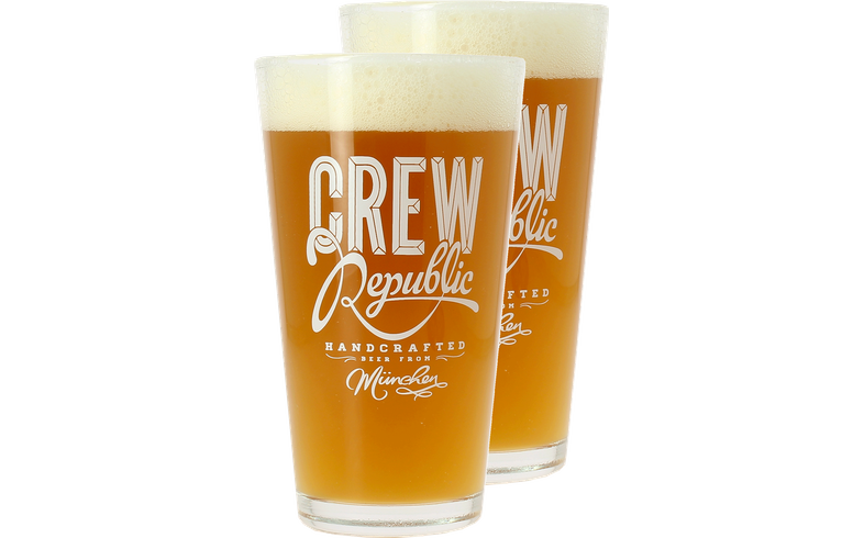 Verres à bière - Pack 2 verres Crew Republic 30 cl