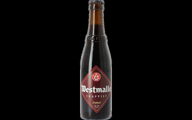 Flessen - Westmalle Dubbel Bruin Trappist 33cl - 0.10 EUR Statiegeld
