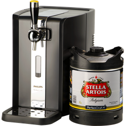 Bierzapfanlagen - Party Pack PerfectDraft -  Bierzapfanlage HD3720/26 mit Stella Artois