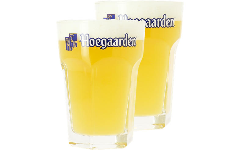 Verres à bière - Pack 2 Verres Hoegaarden - 33 cl