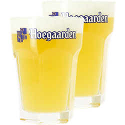 Beer glasses - 2 Hoegaarden 33cl glasses