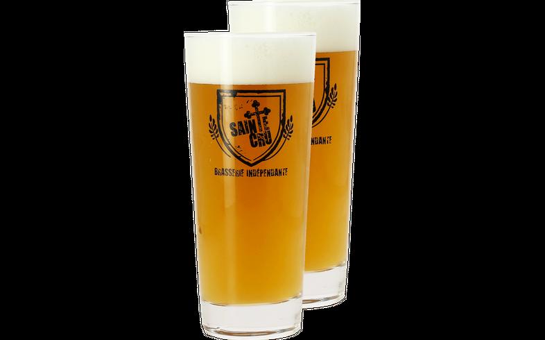 Beer glasses - 2 Sainte Cru Stange Glasses