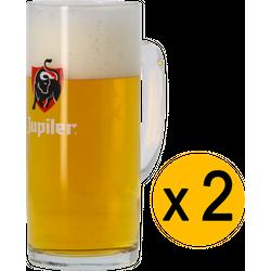 Bierglazen - 2 Jupiler Bock-glases - 50 cl