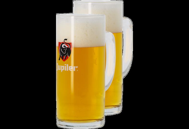Verres à bière - Pack 2 Verres Jupiler bock - 50 cl