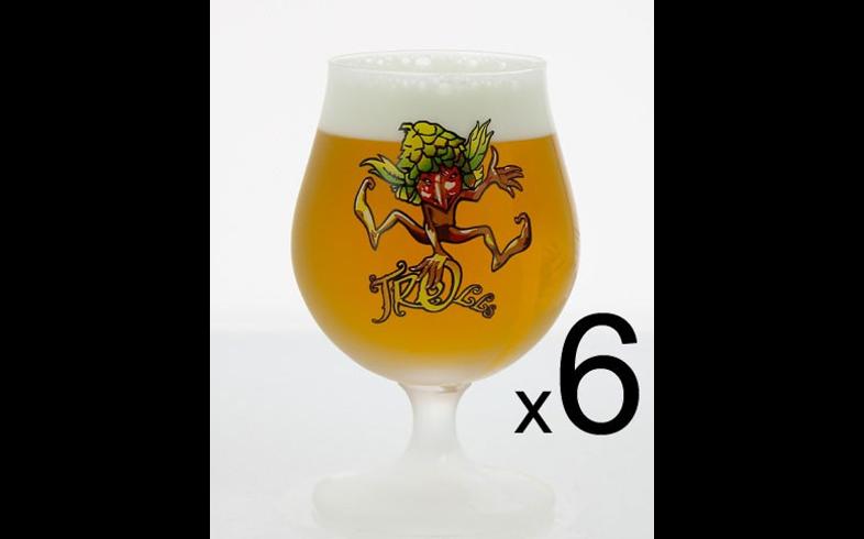 Lot de verre à bière - 6 verres Cuvée des Trolls - 25 cl