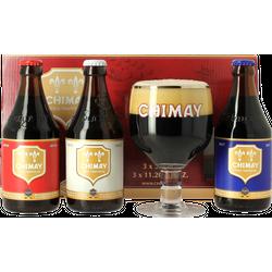 Pack regalo con cerveza y vasos - Coffret Trilogie Chimay 1
