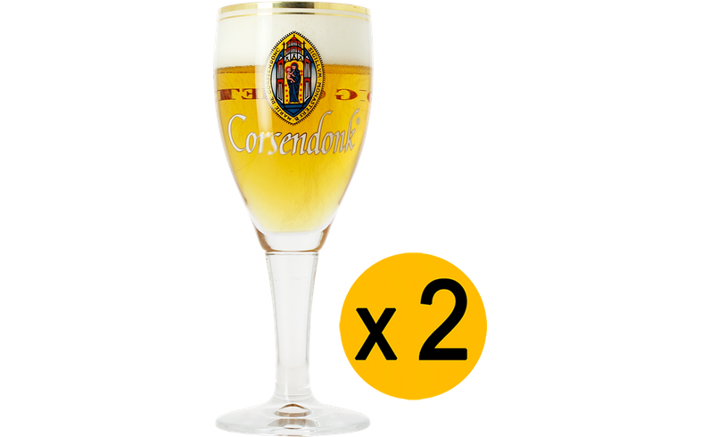 Beer glasses - 2 Corsendonk glasses - 25 cl