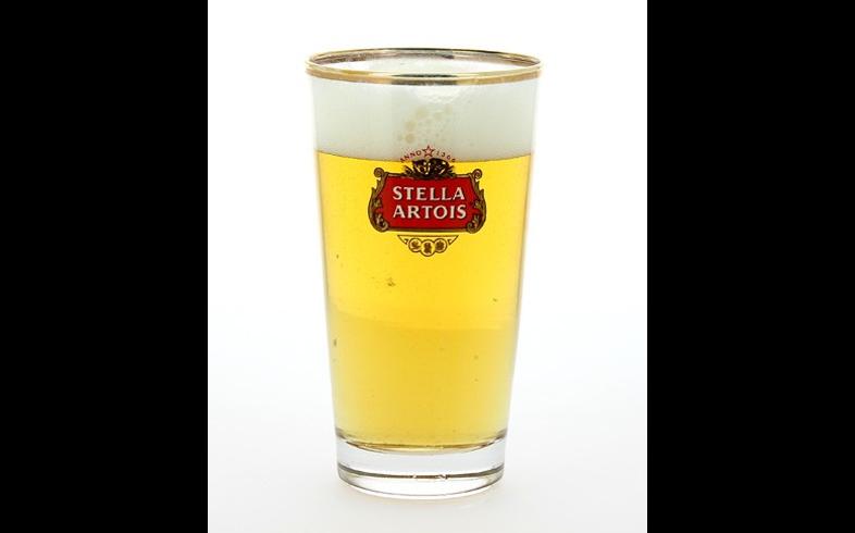 Bierglazen - Verre Stella Artois doré à fond plat