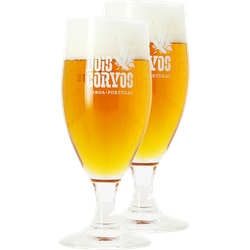 Beer glasses - 2 Dois Corvos stem beer glasses - 20 cl